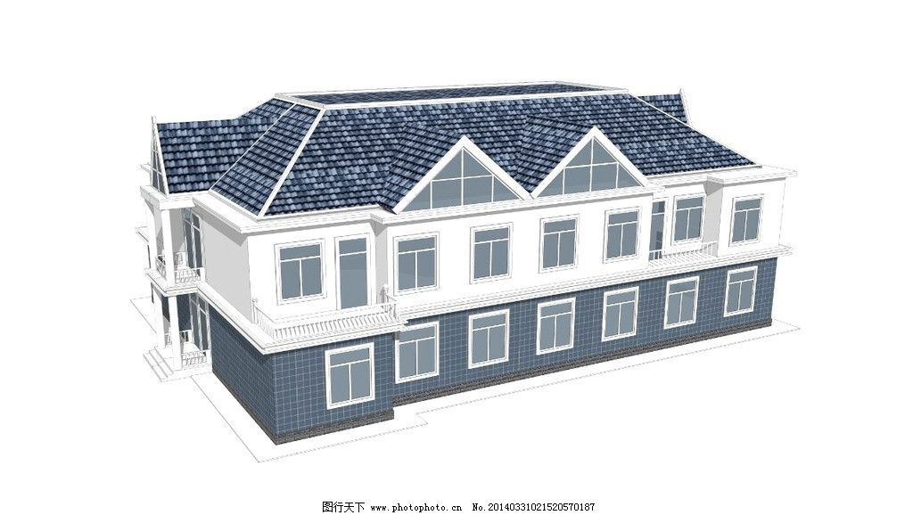 二层办公楼 3d舞台效果图 室内场景设计 展会效果图设计 3d室内设计