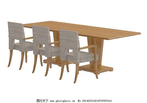 木质桌子模型