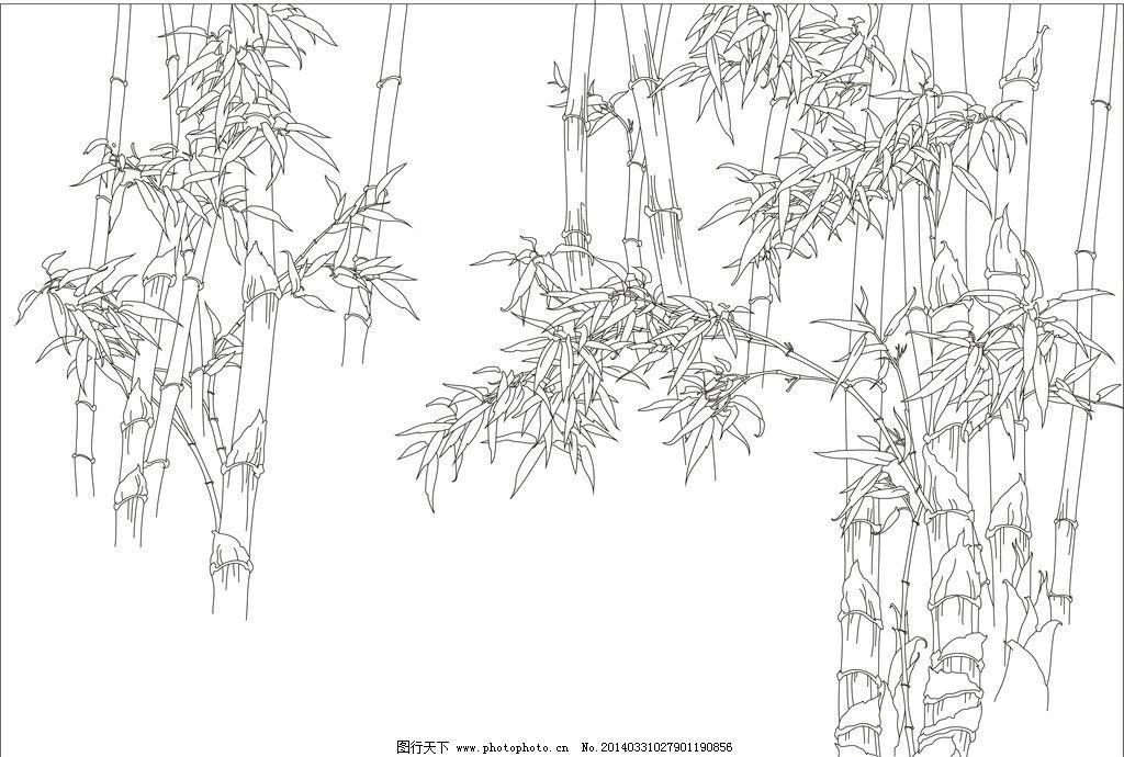 竹子的简画简笔画