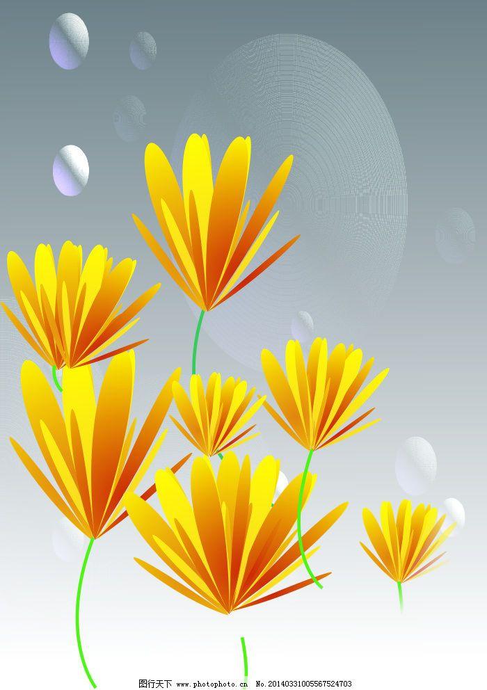 金黄色花朵 金黄色花朵免费下载 花瓣 菊花 矢车菊 矢量图 其他矢量图