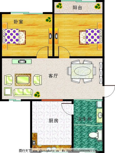 室内平面图矢量素材