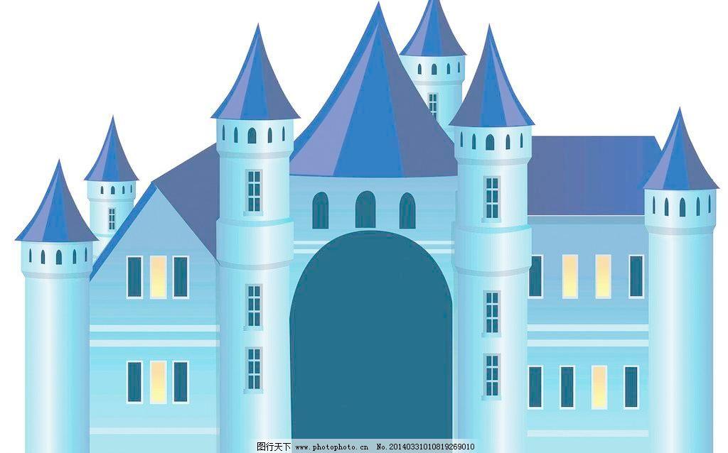 卡通欧式城堡装饰