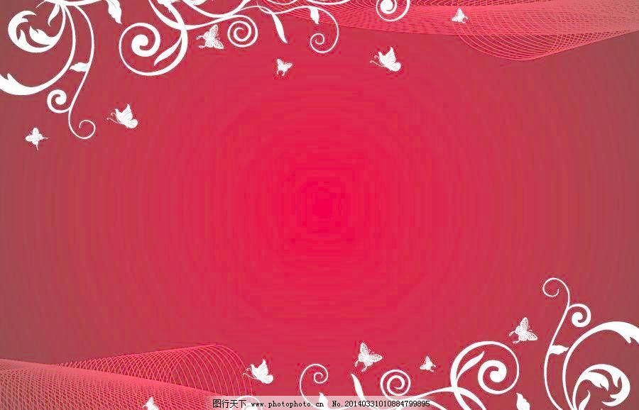 边框 古典 红色花纹矢量素材 红色花纹模板下载 红色花纹 红色 欧式