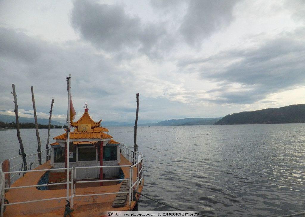 云南/云南洱海渔船黎明图片