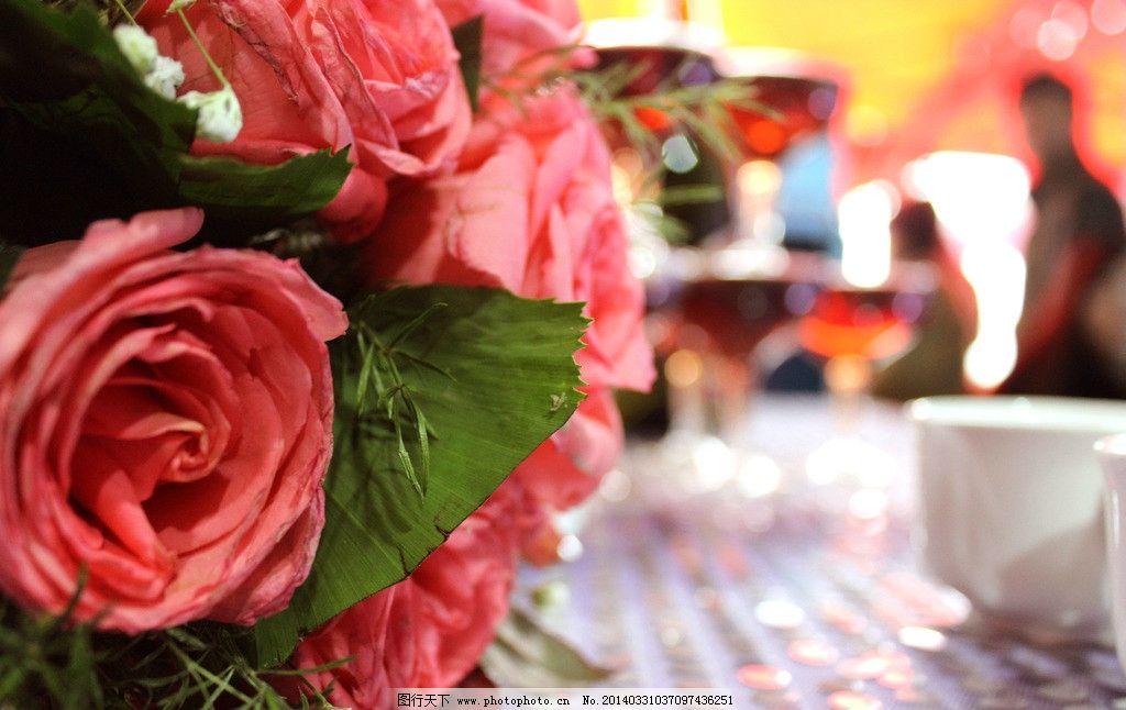 玫瑰花 粉色 婚礼 喜事 手捧花 生活素材 摄影